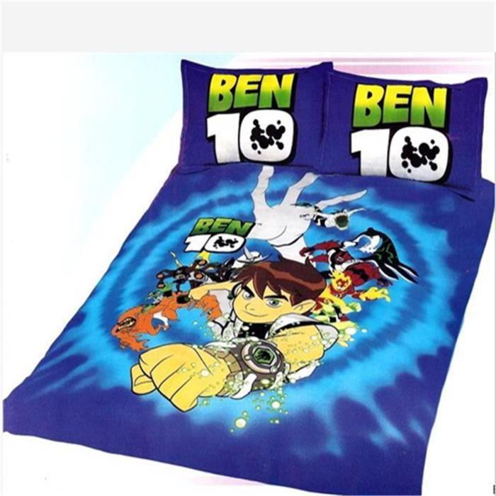 linge de lit ben 10 L&M® Ben 10 enfant Parure de couette Parure de lit 1 housse de  linge de lit ben 10