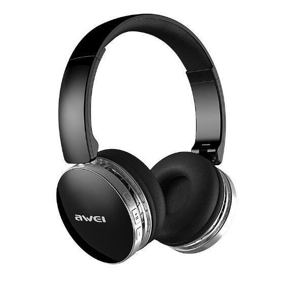 Awei Foldable Hi-fi Stéréo Bluetooth Casque Sans Fil Écouteurs Sports Bruit Annulation Avec Microphone