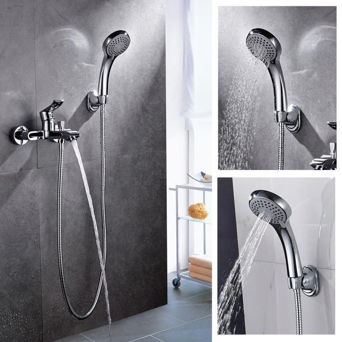 auralum® robinet de baignoire avec douchette douche pour salle de ... - Robinet De Baignoire Avec Douchette