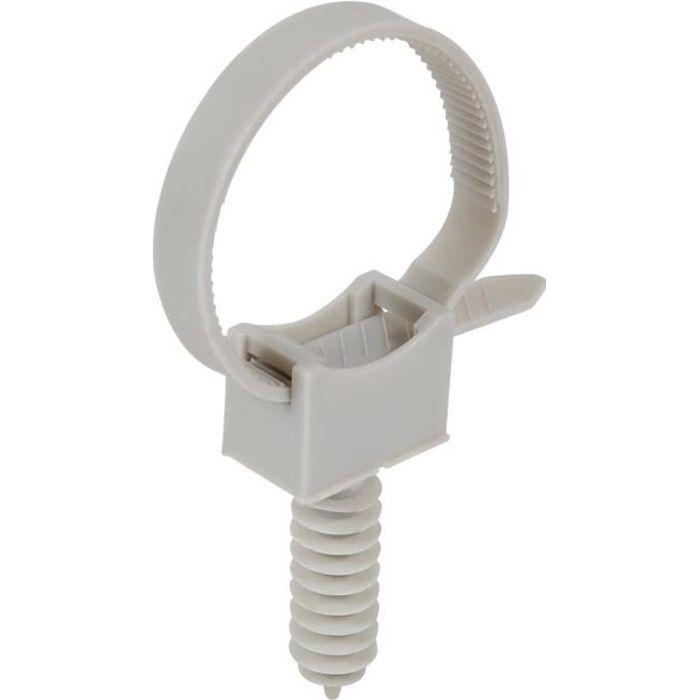 cheville embase avec collier de fixation pour cables et tubes iro achat vente goulotte. Black Bedroom Furniture Sets. Home Design Ideas