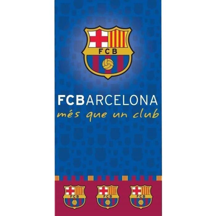 0bda4548a5010b SERVIETTE DE PLAGE Serviette de bain coton Fc barcelone Barça Messi S
