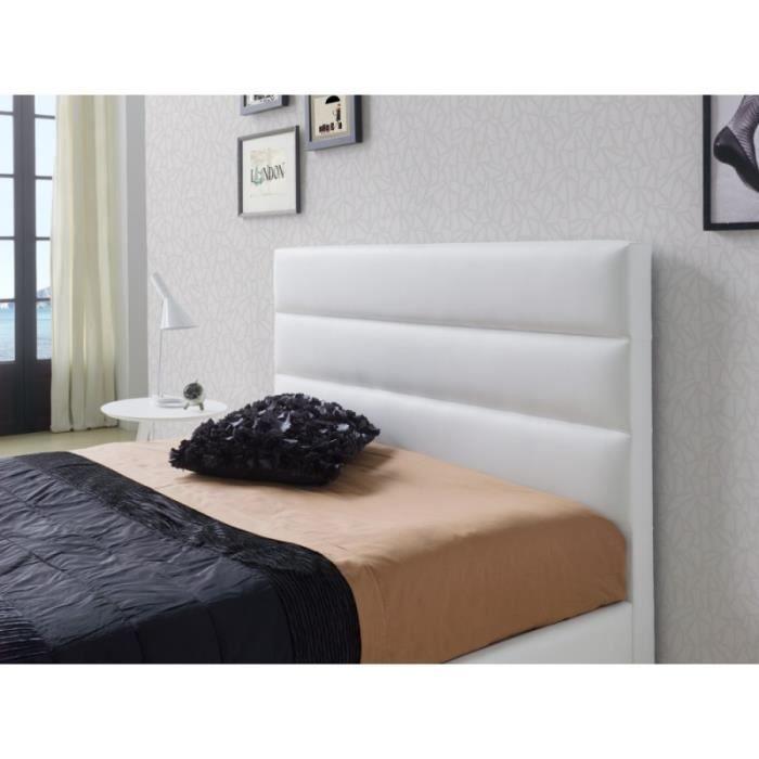 Tete De Lit Huasca En Pu Blanc Pour Lit King Size L 192 X H 118