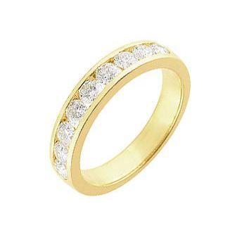 Alliance or jaune Diamant