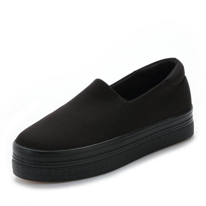 femmes chaussures2017 nouveau muffin bouche peu profonde à fond épais toile de sport a chaussures étudiants de pédale à fond plat