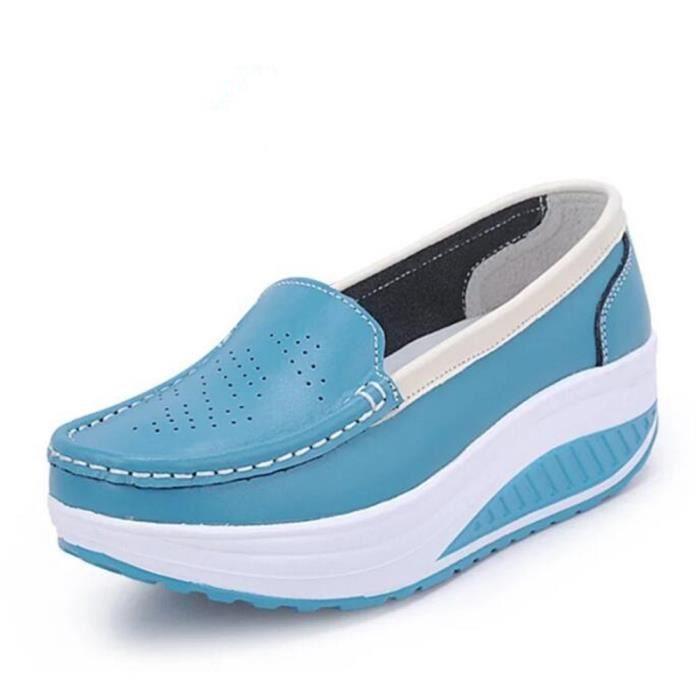Femme Taille Classique 35 Femmes Luxe Confortable 41 Sneaker De Moccasins Grande Marque Cuir Chaussures Ascenseur En n0OPk8w