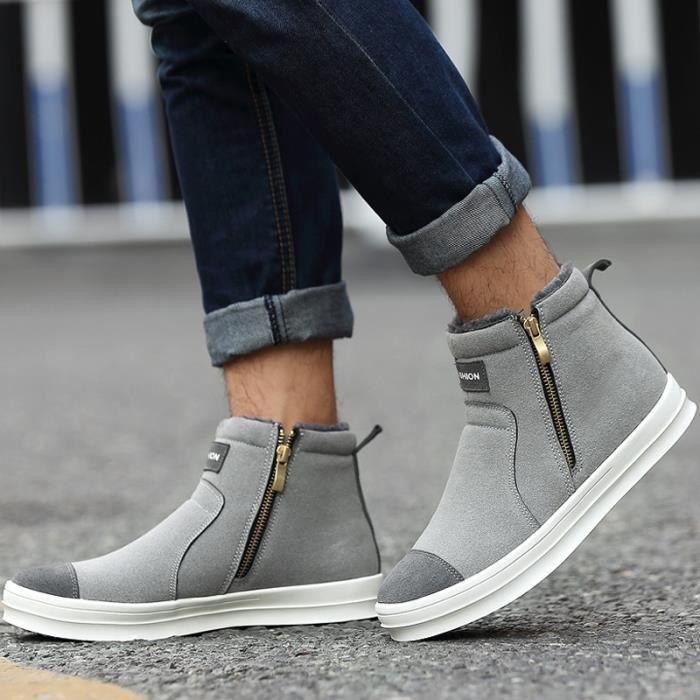 Sports de Bottes chaude Fourrure Chaussures air hommes antidérapantes et plein neige 6IAqEEwRxp