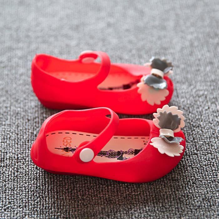 BOTTE Jolies filles bébé enfants détaillée gelée bowknot poisson bouche sandales bottes chaussures@RougeHM