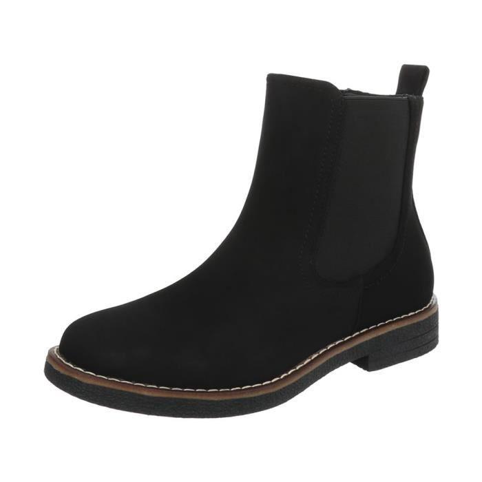 36 Bottes Noir Chaussures Femme Court Arbre Bottillon Booties Ankle 4xgx8qH
