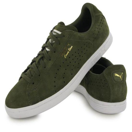 sports shoes 91582 a3f99 Puma Court Star Suede vert, baskets mode homme