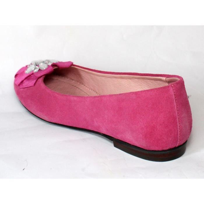 Chaussurs femme 100% CUIR ROSE SOUDE T 37 NEUVES