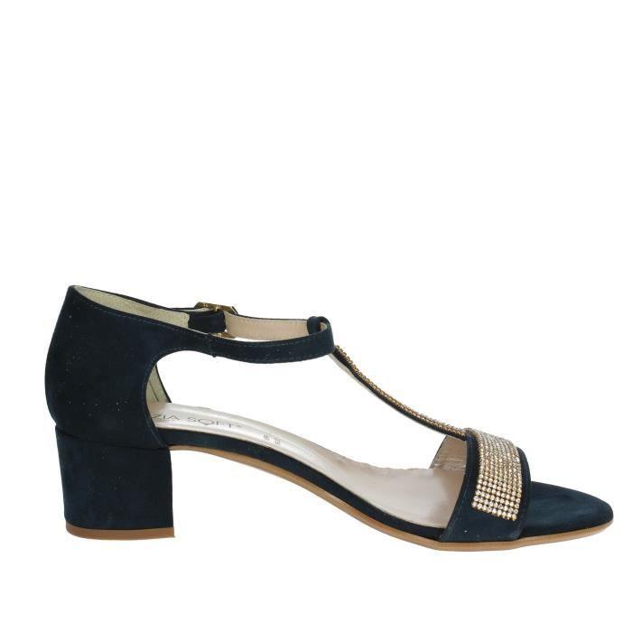 Cinzia Soft Sandale Femme Bleu, 40