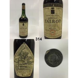 VIN ROUGE Château Talbot 1962