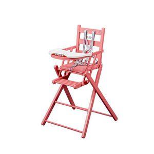 chaise b b fille rose en bois pliable portable fabriqu e en france achat vente chaise haute. Black Bedroom Furniture Sets. Home Design Ideas