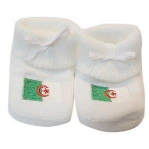 CHAUSSON - PANTOUFLE Chaussons bébé drapeau Algérie