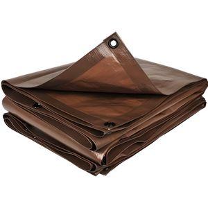 BACHE Bâche de protection marron 2 x 8 m