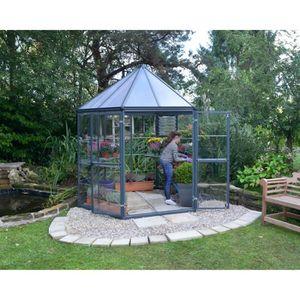 SERRE DE JARDINAGE PALRAM Serre de jardin hexagonale Oasis 3,8 m² - A