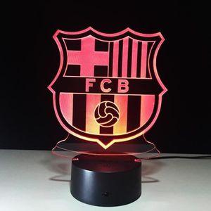 OBJETS LUMINEUX DÉCO   3D Nuit Lumière Lampe Acrylique Fútbol Club Barce