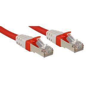 LINDY Câble réseau patch cat.6A S/FTP PIMF Premium - Cuivre - 10 Gbit - 500Mhz - LSOH - 0,3m - Rouge