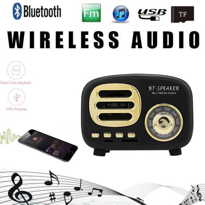 Bt02 Portable Rétro Sans Fil Bluetooth Haut-kclleur Stéréo Caisson De Basses Kcl223