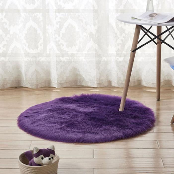Tapis Salon carpet tapis chambre rond en peluche Tapis Violet ...