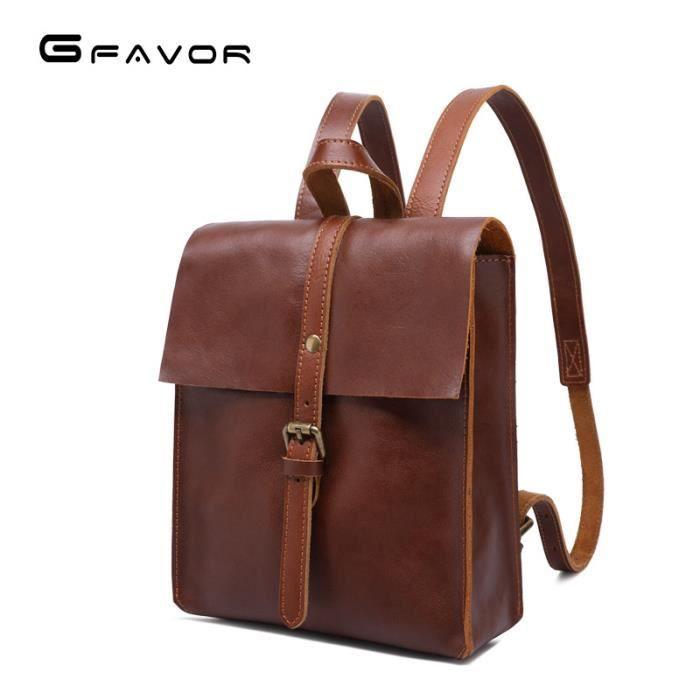 fd493320fea6c Sacs à main en cuir de haute qualité Sac à bandoulière rétro pour femme  avec couche supérieure en cuir pour fille sac de voyage Mini. SAC À DOS ...