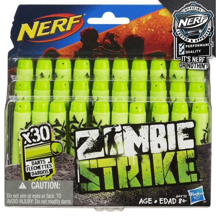 dbf153fa8013c4 Hasbro A4570e240 - Jeu De Plein Air - Zombie Strike- Recharges Fléchettes  X30 L3FE4