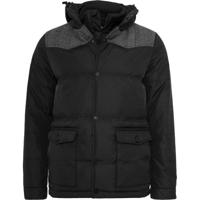 Urban Classics - OXFORD Veste d hiver noir Noir - Achat   Vente ... cc482fd0bcfa