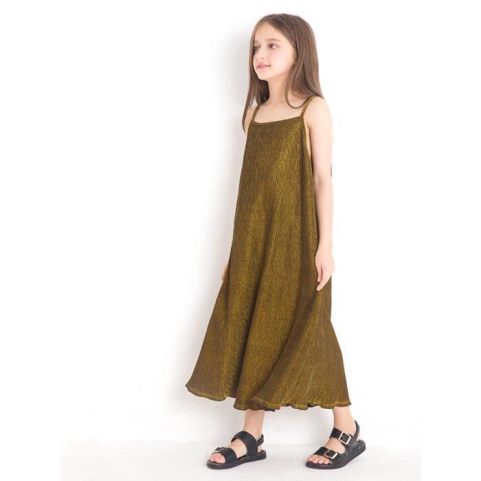 robe de glissement de couleur unie fille de robe de vrac enfants