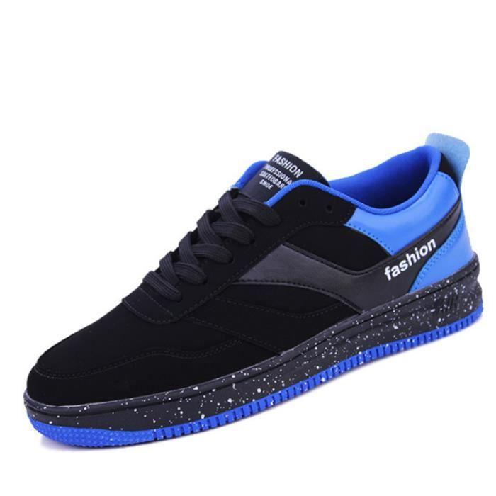 Chaussures De Sport Pour Hommes en daim Textile De Course Populaire TYS-XZ122Bleu42 OQEAs1uu1X