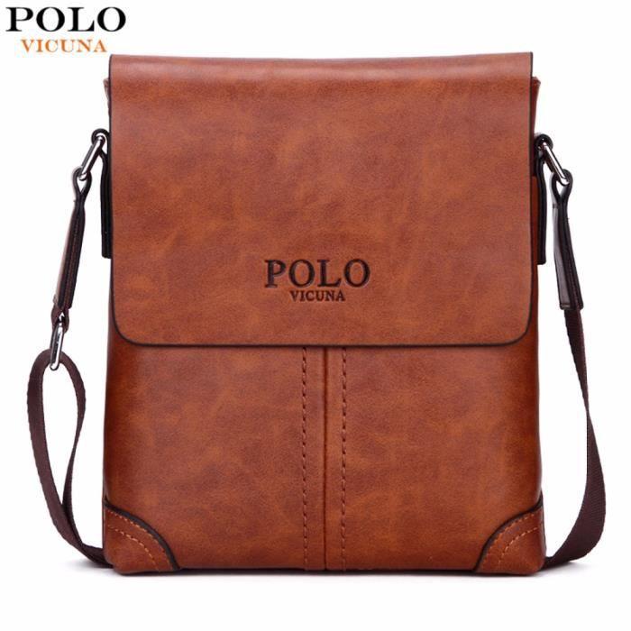Durable Cuir Polo En Sacs Hommes Messenger Givré Vintage Célèbre CBdxoer