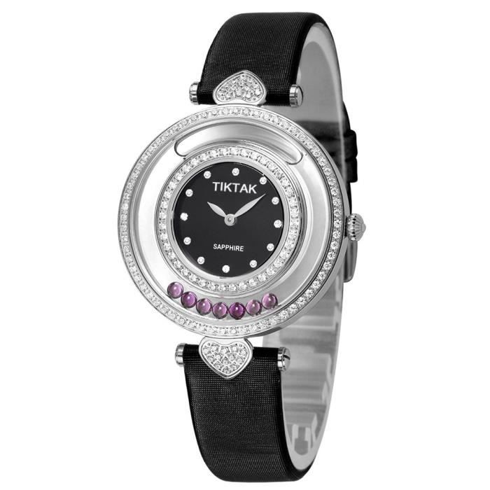 montres, montres suisses de parfum de cuir de saphir de quartz de mode pour des femmes Q0W0Q