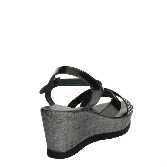 Cinzia Soft Sandale Femme Gris anthracite, 38