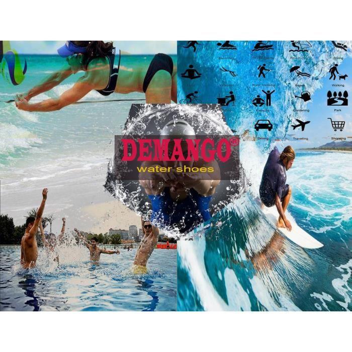 Chaussures de yoga Pieds nus séchage rapide Sports nautiques Chaussures Aqua nager marche la plage du Lac HDUAE Taille-44 1-2