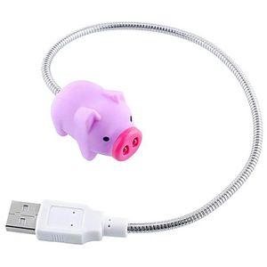 LAMPE A POSER Mini Mignon USB LED Lampe Forme de Porc Tuyau de L