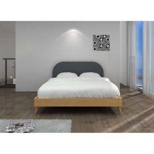 Lit design scandinave COPENHAGUE LIT Bois 160x200 cm Lit sans chevet ...