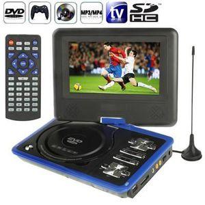 LECTEUR DVD PORTABLE DVD bleu Console jeux portable 7 pouces (MP3,MP4,T