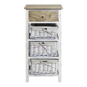 meuble bois avec tiroirs osier achat vente pas cher. Black Bedroom Furniture Sets. Home Design Ideas