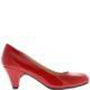 1ebf255a7e5d7 Escarpins classiques rouges vernis à talons de 6cm bouts ronds Rouge ...