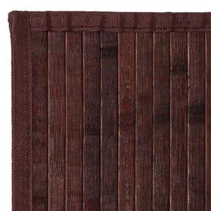 TAPIS Tapis bambou noyer - couleur : Marron - taille : 2