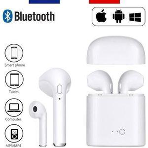 KIT BLUETOOTH TÉLÉPHONE 2pcs HBQ I7S TWS Écouteurs Bluetooth, Casque sans