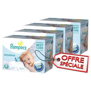 COUCHE 600 Couches Pampers New Baby Sensitive taille 2