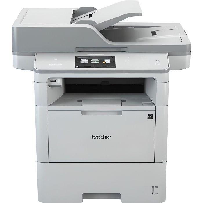 BROTHER Imprimante multifonctions DCP-L6600DW - Laser - Noir et blanc  - USB 2.0, Gigabit LAN, Wi-Fi(n), hôte USB, NFC - A4