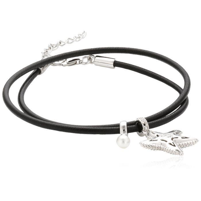 C1544b-90-03 - Bracelet Femme - Argent 925-1000 6.1 Gr - Oxyde De Zirconium - Perle Synthétique A8OXE