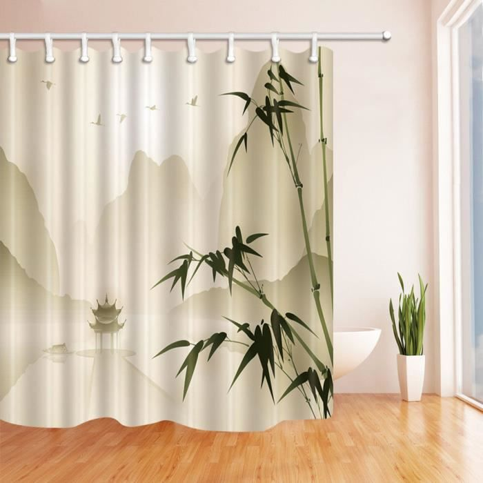 250 Rideau De Douche 71 Polyester Impermeable Salle De Bains