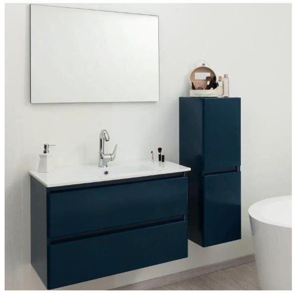 ensemble de salle de bain bleu pétrole 60cm - achat / vente salle ... - Salle De Bain Bleu Petrole