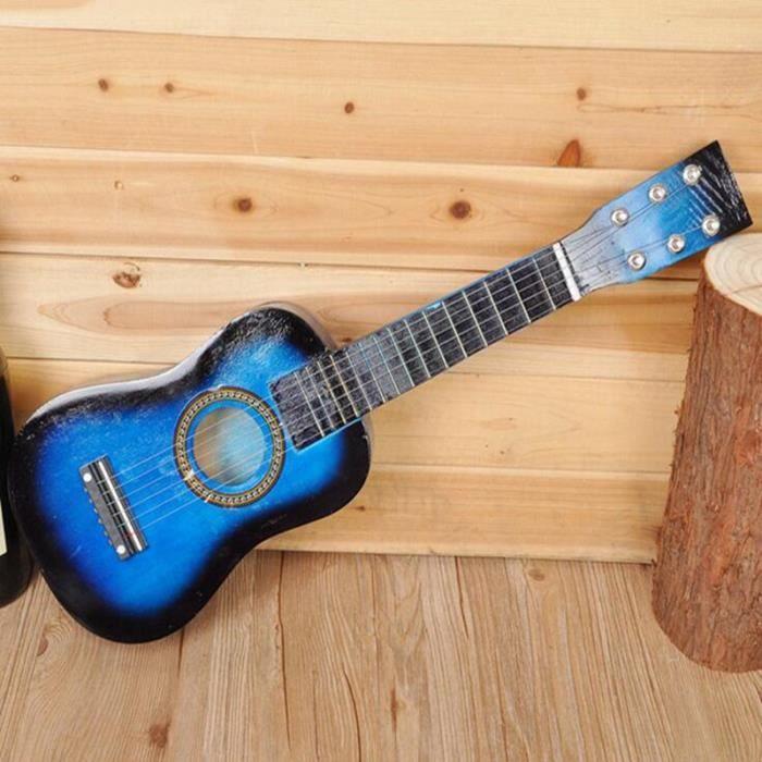 guitare bois enfant achat vente jeux et jouets pas chers. Black Bedroom Furniture Sets. Home Design Ideas