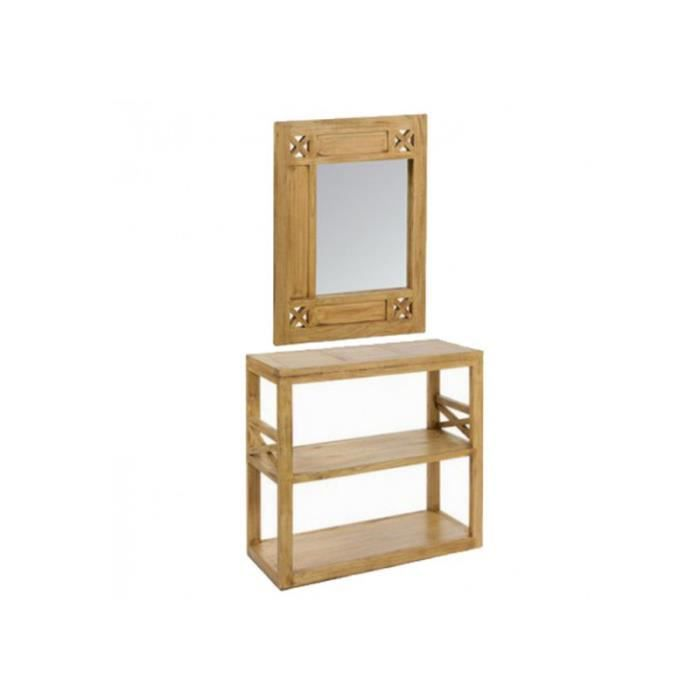 meuble d entr avec miroir style campagnard chic bois clair