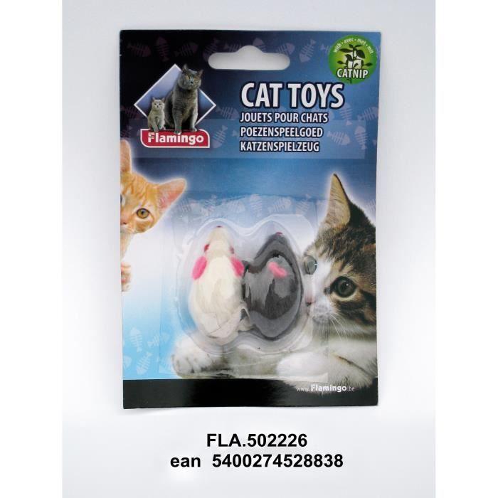 Zoo Ingros Jouets Pour Les Chats (2 Souris) - Produits Animaux De Compagnie Chien Chat