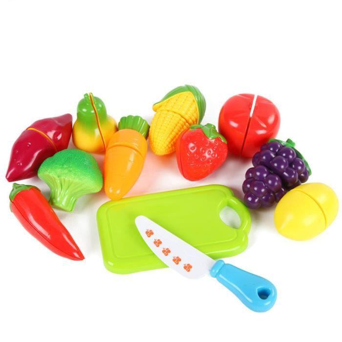 12pcs fruit plastique l gumes cuisine jouets coupe jouet - Cuisine plastique jouet ...