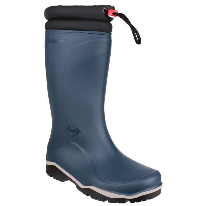 Dunlop Blizzard - Bottes imperméables - Homme  Bleu/noir - Achat / Vente botte  - Soldes* dès le 27 juin ! Cdiscount